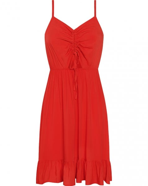 CHARLIZE DRESS RED