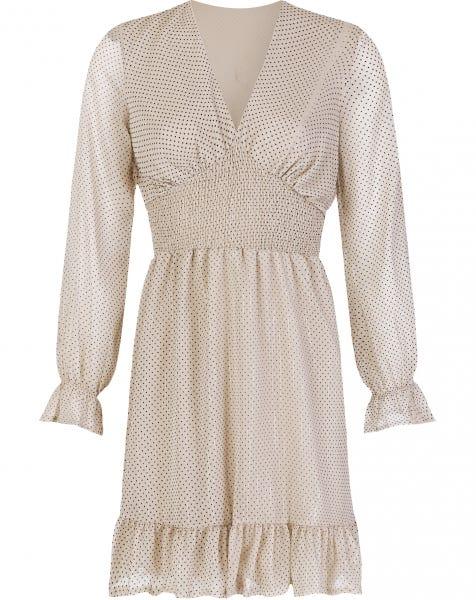 ADORE SHINY DOTS DRESS BEIGE
