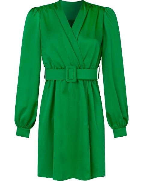 HAILEY SATIN DRESS GREEN