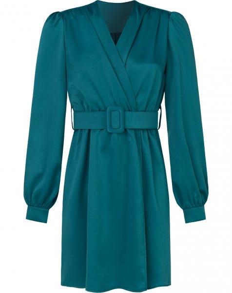 HAILEY SATIN DRESS SEABLUE