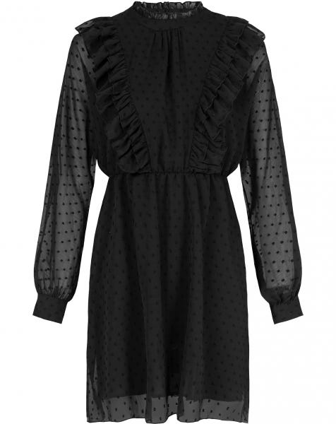 ALEAYA DOTS DRESS BLACK