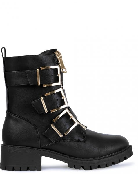 MILA BOOTS BLACK GOLD