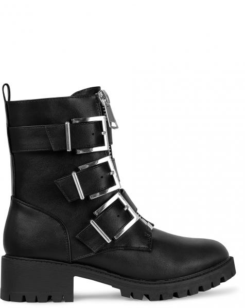 MILA BOOTS BLACK SILVER