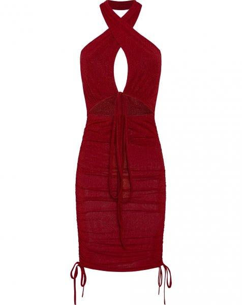 ARIANE LUREX DRESS BLUSH