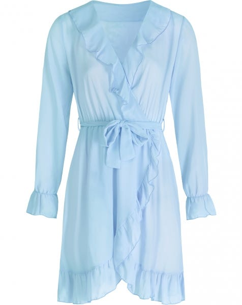 KIKI WRAP DRESS BABYBLUE