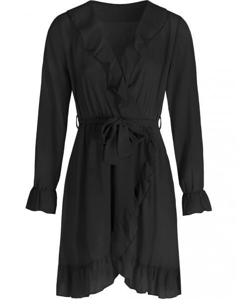 KIKI WRAP DRESS BLACK