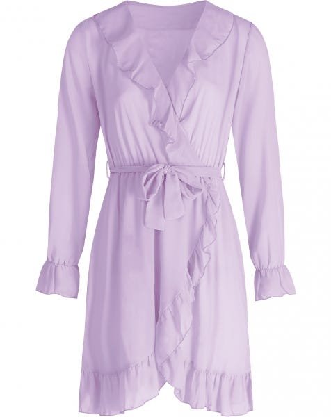 KIKI WRAP DRESS LILA