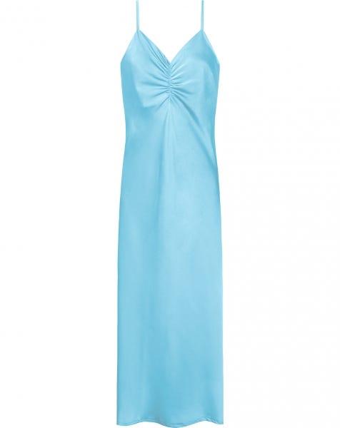 SATIN SLIP DRESS LIGHT BLUE