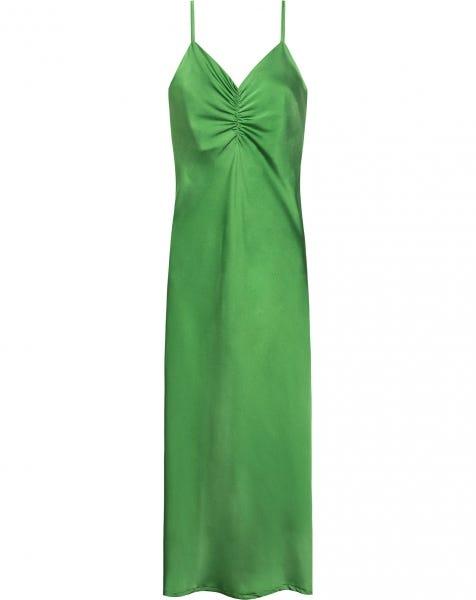 SATIN SLIP DRESS OLIVE