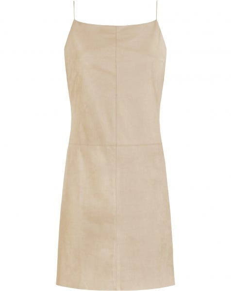 SUEDINE SLIP DRESS