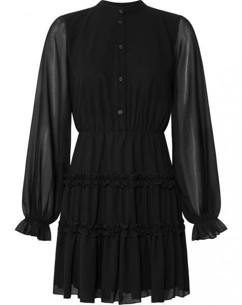 MALU RUFFLE DRESS BLACK