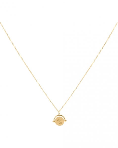 LET ME LOVE YOU NECKLACE GOLD
