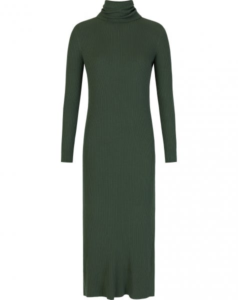 EMMY RIBBED KNIT DRESS ARMY