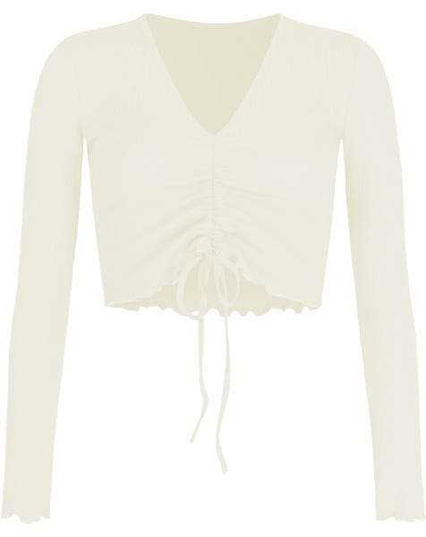 HOLLY LACE UP TOP CREAM