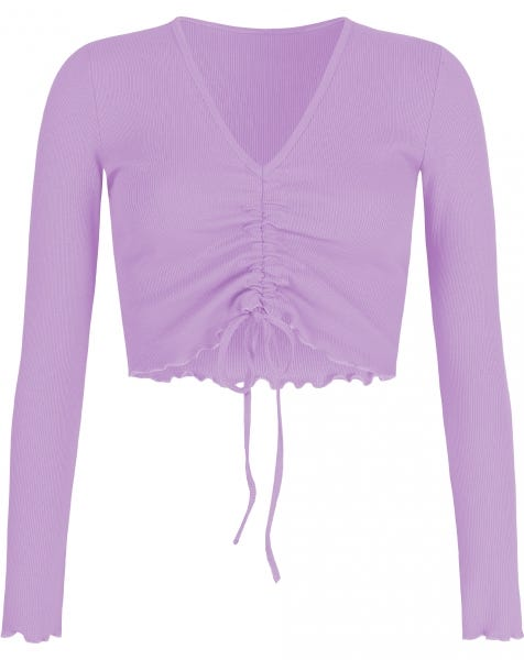 HOLLY LACE UP TOP LILA