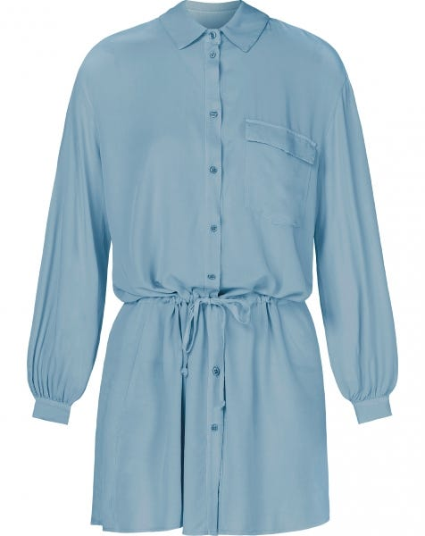 CASEY BLOUSE DRESS BABYBLUE