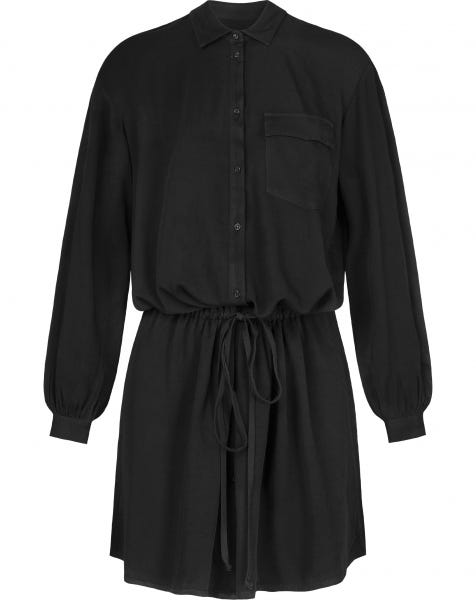 CASEY BLOUSE DRESS BLACK
