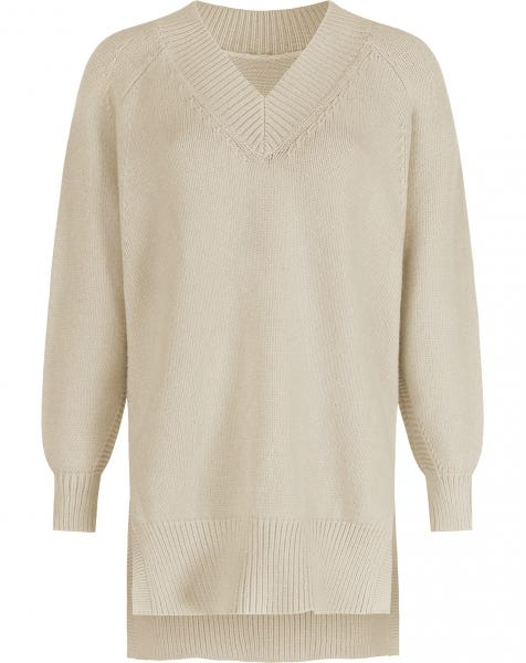 SOPHIE KNIT DRESS ALMOND