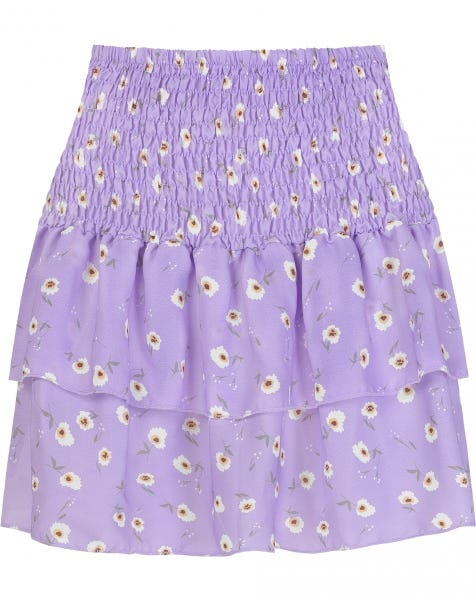 GINI FLOWER SKIRT LILA