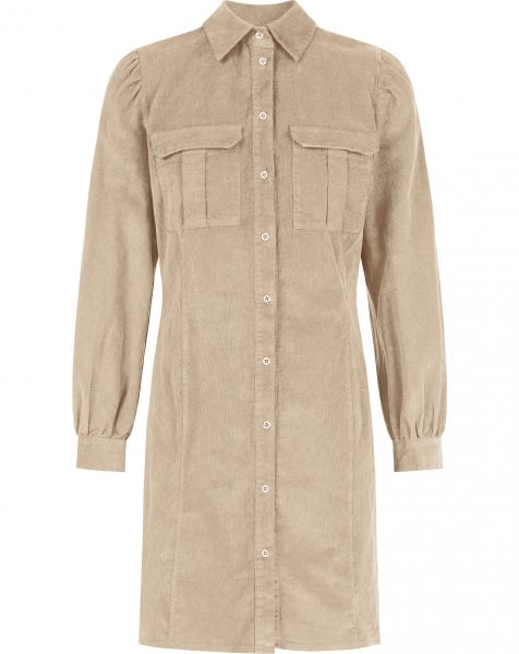 NAOMI BLOUSE DRESS BEIGE