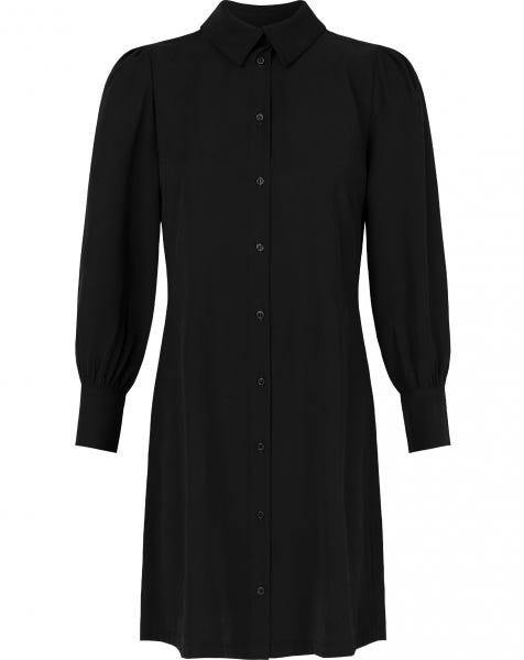 DORI BLOUSE DRESS BLACK