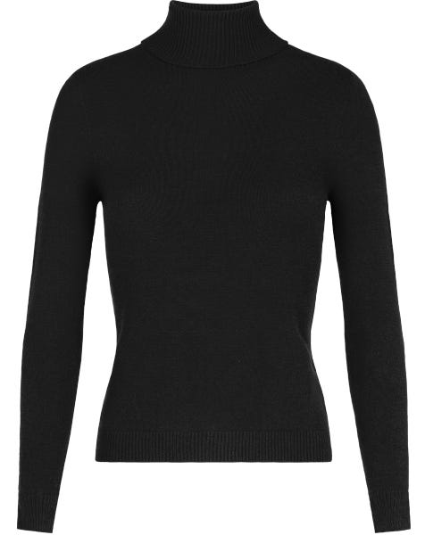 SOFT COL KNIT BLACK