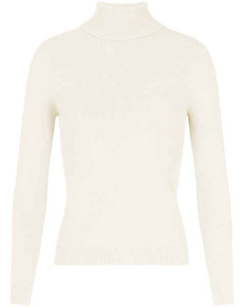 SOFT COL KNIT CREAM