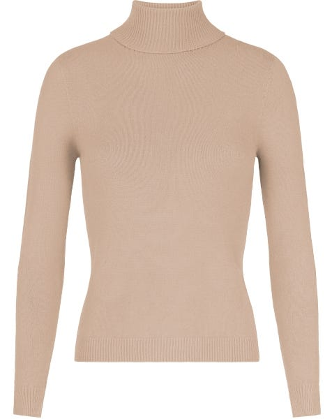 SOFT COL KNIT TAUPE