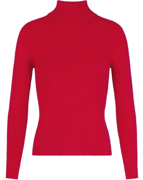 SOFT COL KNIT RED