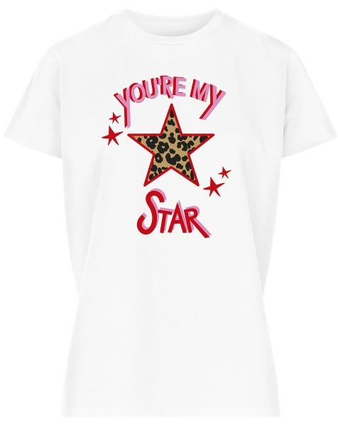YOU'RE MY STAR TEE WHITE