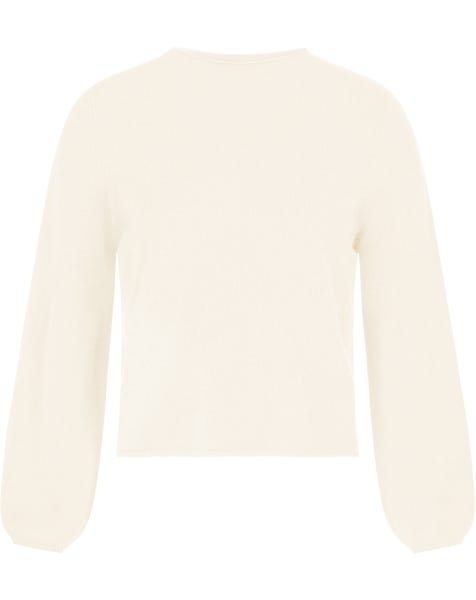BALLOON SLEEVE KNIT CREAM