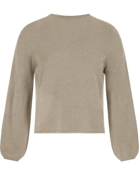 BALLOON SLEEVE KNIT TAUPE