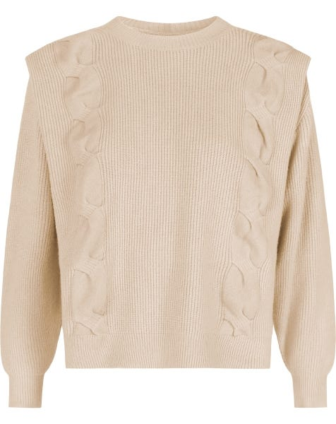 KYLIE KNIT ALMOND