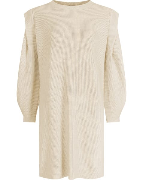 KYLIE KNIT DRESS ALMOND