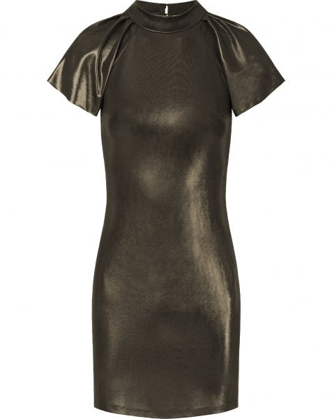 ROSE METALLIC DRESS GOLD
