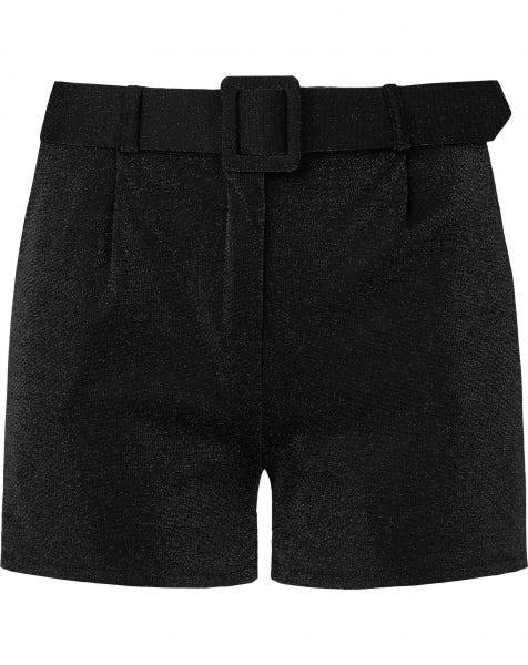 RIHANA METALLIC SHORTS BLACK