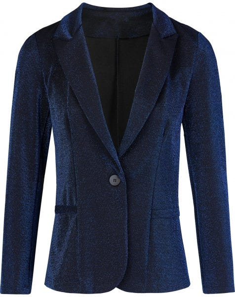 RIHANA METALLIC BLAZER BLUE