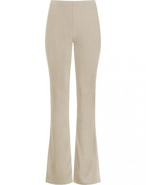 MW RIBBED FLARED PANTS NUDE