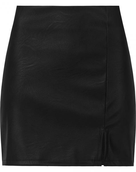 LEATHER SPLIT SKIRT