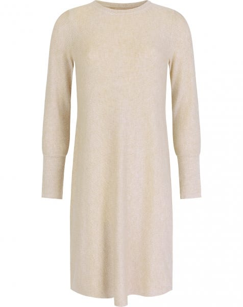 ROXIE RIBBED DRESS BEIGE