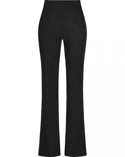 JYLL GLITTER FLARED PANTS BLACK