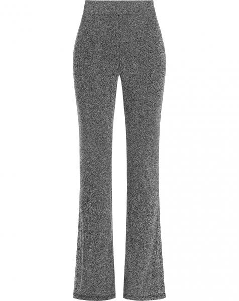 JYLL GLITTER FLARED PANTS SILVER