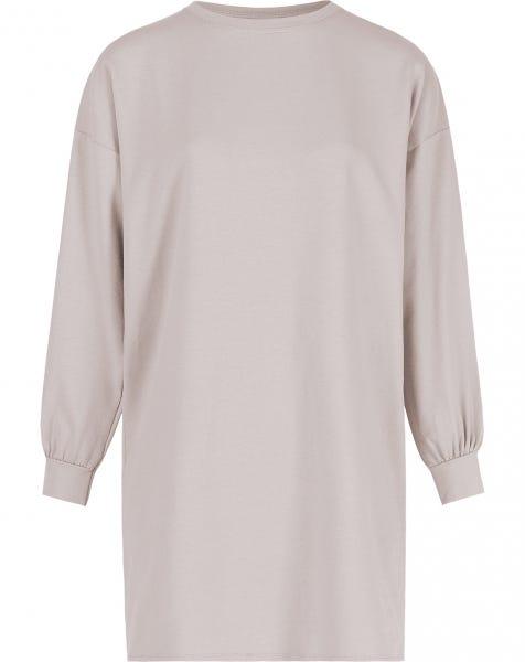 OVERSIZED SWEAT DRESS SAND