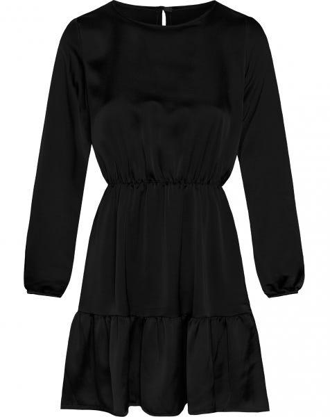 PERFECT SATIN DRESS BLACK