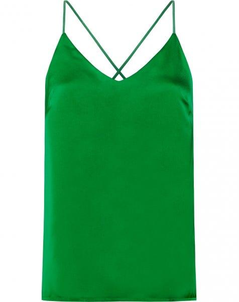 CLAIRE SATIN SLIP TOP GREEN