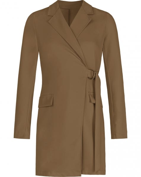 LOREN BLAZER DRESS CAMEL