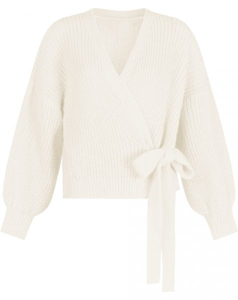 WRAP KNIT CARDIGAN CREAM