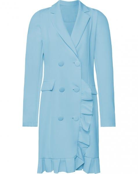 ROXY RUFFLE BLAZER DRESS BLUE