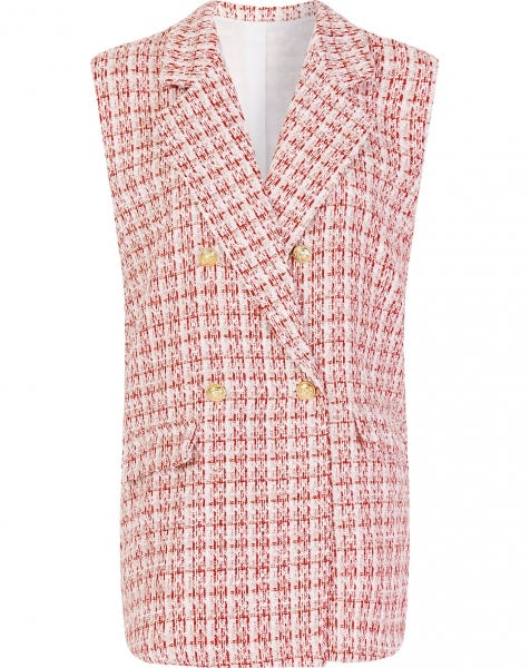 BOUCLE GILET RED CHECK