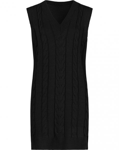 CABLE SPENCER DRESS BLACK